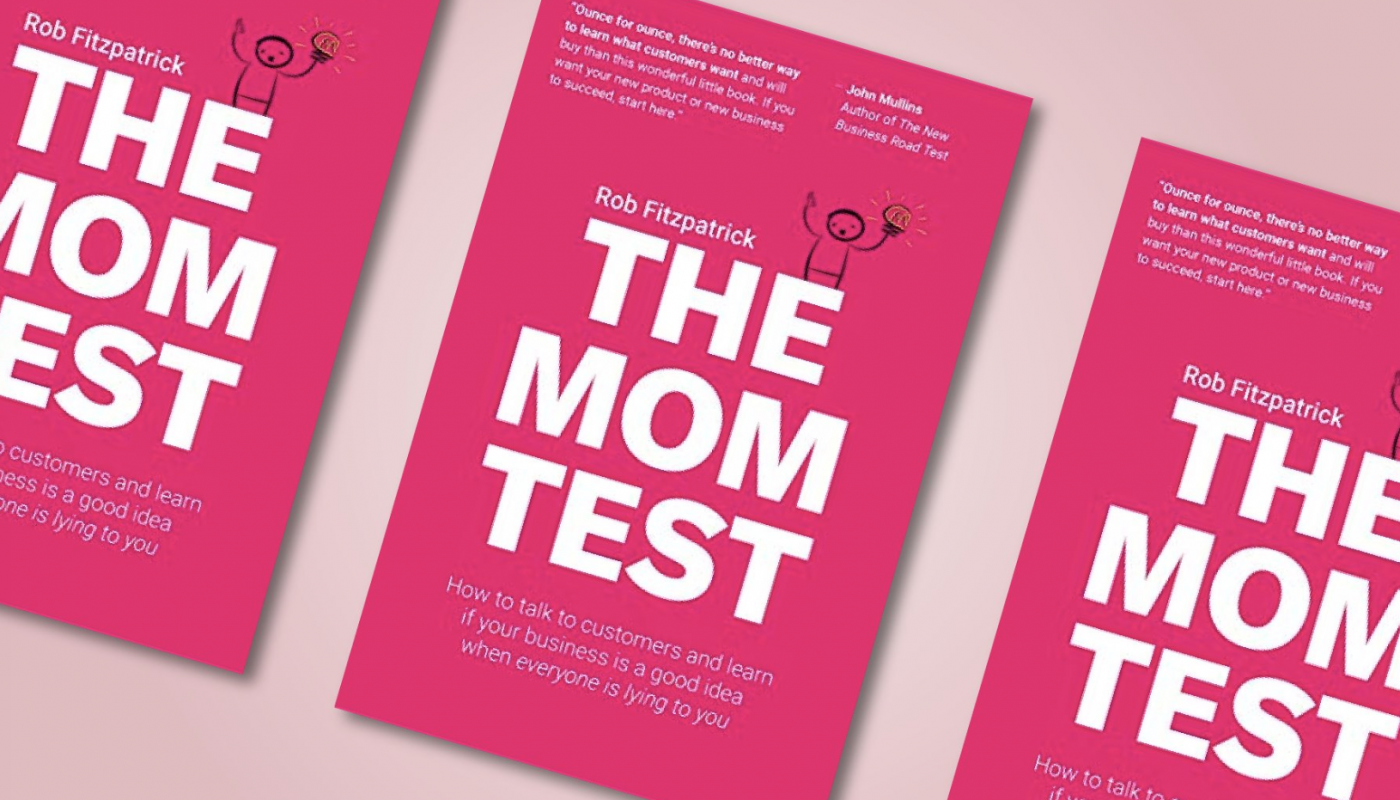 The Mom Test book