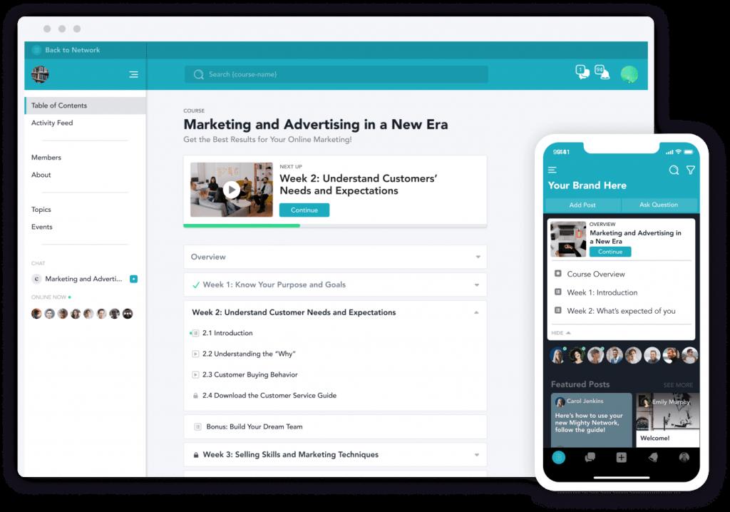 MightyNetworks: 자기 브랜드로 온라인 강의를 개설하고 커뮤니티를 관리하는 툴